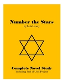Number the Stars by Lois Lowry Novel Study Unit with Project