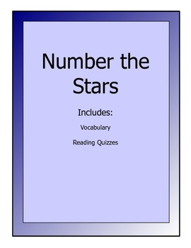 Number the Stars novel packet - reading quizzes and vocabulary