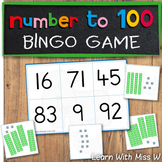 Number to 100 Bingo Game