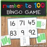 Number to 100 Bingo Game