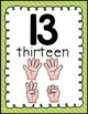 NUMBERS TO 20 POSTERS {BRIGHTS CLASSROOM DECOR}