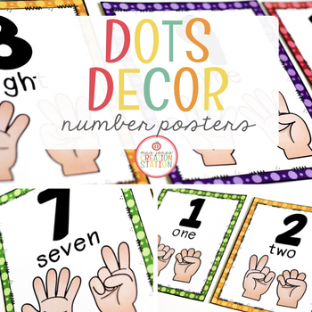 Number to 20 Posters {Dots Classroom Set}