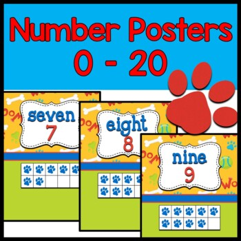 Numbers 0 to 20 ~ Puppy theme