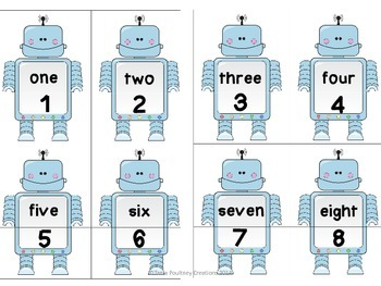 Number to 20 Robots