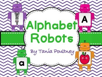 Number to 20  and Alphabet robots bundle