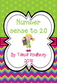 Number Sense to 20 with a bonus FREE file