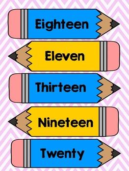 Number to Number-Word Match 11-20 File Folder Game