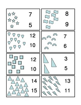 Number to Quantity Worksheets
