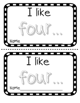 Number word FOUR sight word reader