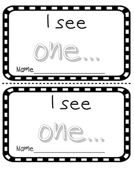 Number word ONE sight word reader