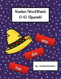 Number word match spanish