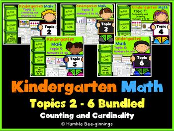 Kindergarten Math, Topics 2-6 Bundled: Counting and Cardinality