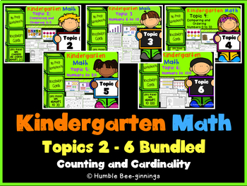 Kindergarten Math, Topics 2-6 Bundled: Counting and Cardinality
