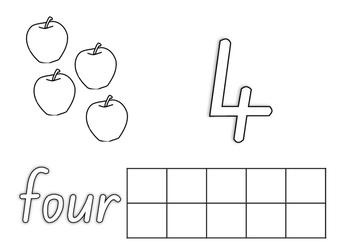 Number work mats 1-10