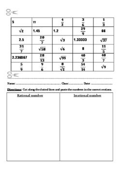 Number worksheet