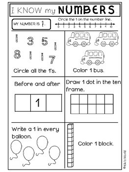 Number worksheets 1-10 (10 printables to practice your numbers)
