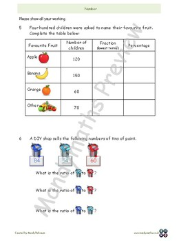 Number worksheets (with answers)