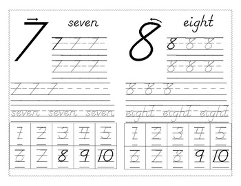 Number writing 1-10