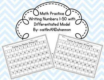 Writing Numbers 1-50 with Differentiated Models