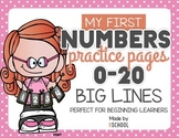 Number writing practice for beginning learners