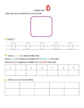 Number Zero - worksheets