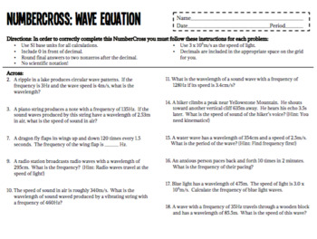 NumberCross-Wave Equation