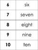 Number/Number Word Cards
