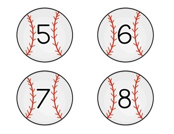 Number/Number Word Matching {Baseball Themed}