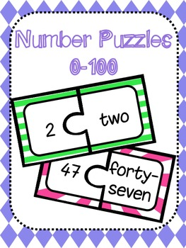 Number/Word Match Puzzles 0-120