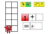 Numberblocks Addition to 10 Boards with Counters   KS1 Maths