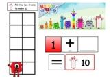 Numberblocks Number Bonds to 10 mats - KS1 - Maths - playd