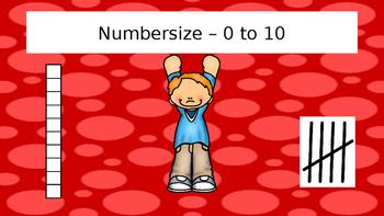 Numbercise! Subitizing practice 0-10