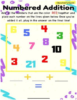 Numbered Addition