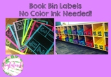Numbered Book Bin Labels