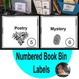 Numbered Book Bin Labels (Editable!) Google Slides