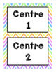 Numbered Center Signs