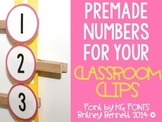 Numbered Classroom Clips