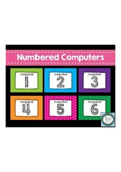 Numbered Computer Desktop Wallpapers {Polkadot}