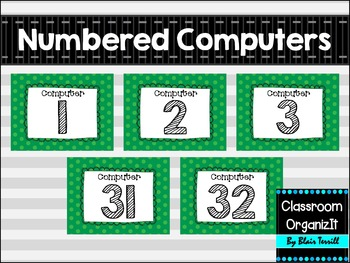 numbered computers desktop wallpapers green polkadot by classroom