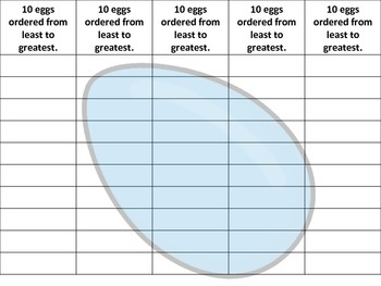 Numbered Eggs - Math Tub - Number Order