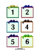 "Numbered ""Gift"" Cards for Calendar, Games, Tags"