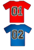 Numbered Jerseys - Sports Themed Classroom Decorations