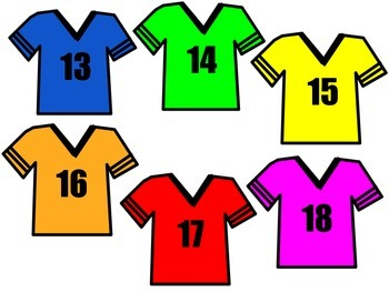 Numbered Sports Jerseys