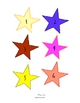 """Numbered """"Star"""" Cards for Calendar, Games, Tags"""