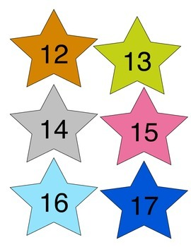 Numbered Stars 1-20