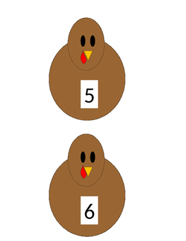 Numbered Turkeys 1 - 20