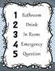 """Numbered """"What Do You Need?"""" Easy Classroom Management Sys"""
