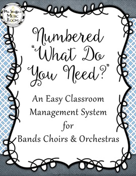 "Numbered ""What Do You Need?"" Easy Classroom Management System"