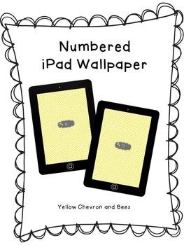 Numbered iPad Wallpaper