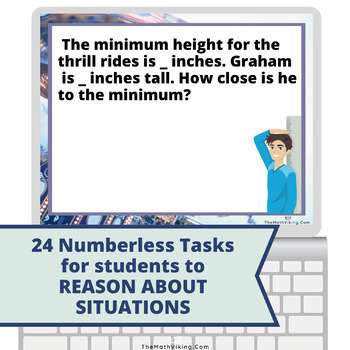 Numberless Word Problems FRACTIONS Sort & Solve Grade 5/6 Not Just Test Prep!